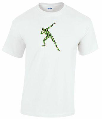 Usain Bolt Jamaica Flag Olympic T-Shirt Mens