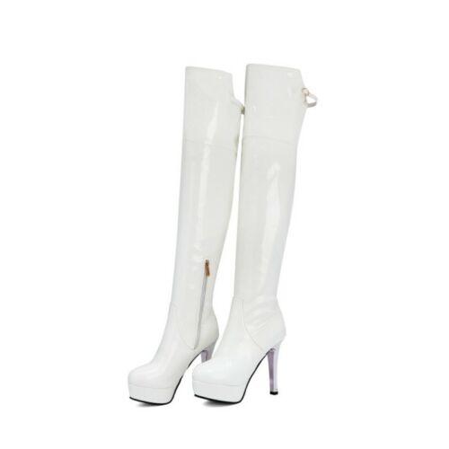 Europa Damenstiefel 46 47 48 49 Platform High Heel Overknee Stiefel Nachtclub L