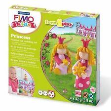 FIMO KIT FOR KIDS form & Play polimero Modellazione Forno Cuocere Argilla-Set Principessa