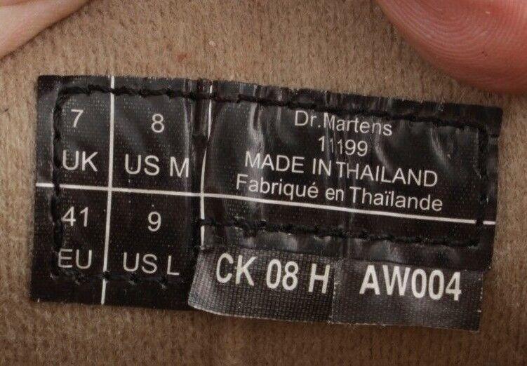 DR 8 MARTENS 11199 MEN/WOMEN'S US 8 DR MEN 9 WOMEN BROWN LEATHER OXFORDS d4c9fe
