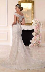 6249 Illusion Lace Back Wedding Dress