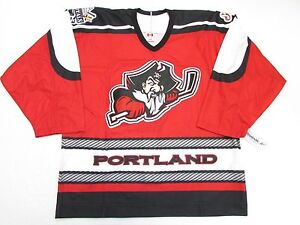 timeless design f7eeb d2e98 Details about PORTLAND PIRATES AUTHENTIC RED AHL TEAM ISSUED REEBOK 6100  JERSEY SIZE 54