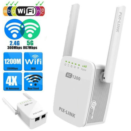 AC1200 WIFI Repeater 2.4G & 5G Wireless-N Router Strong Range Extender Booster