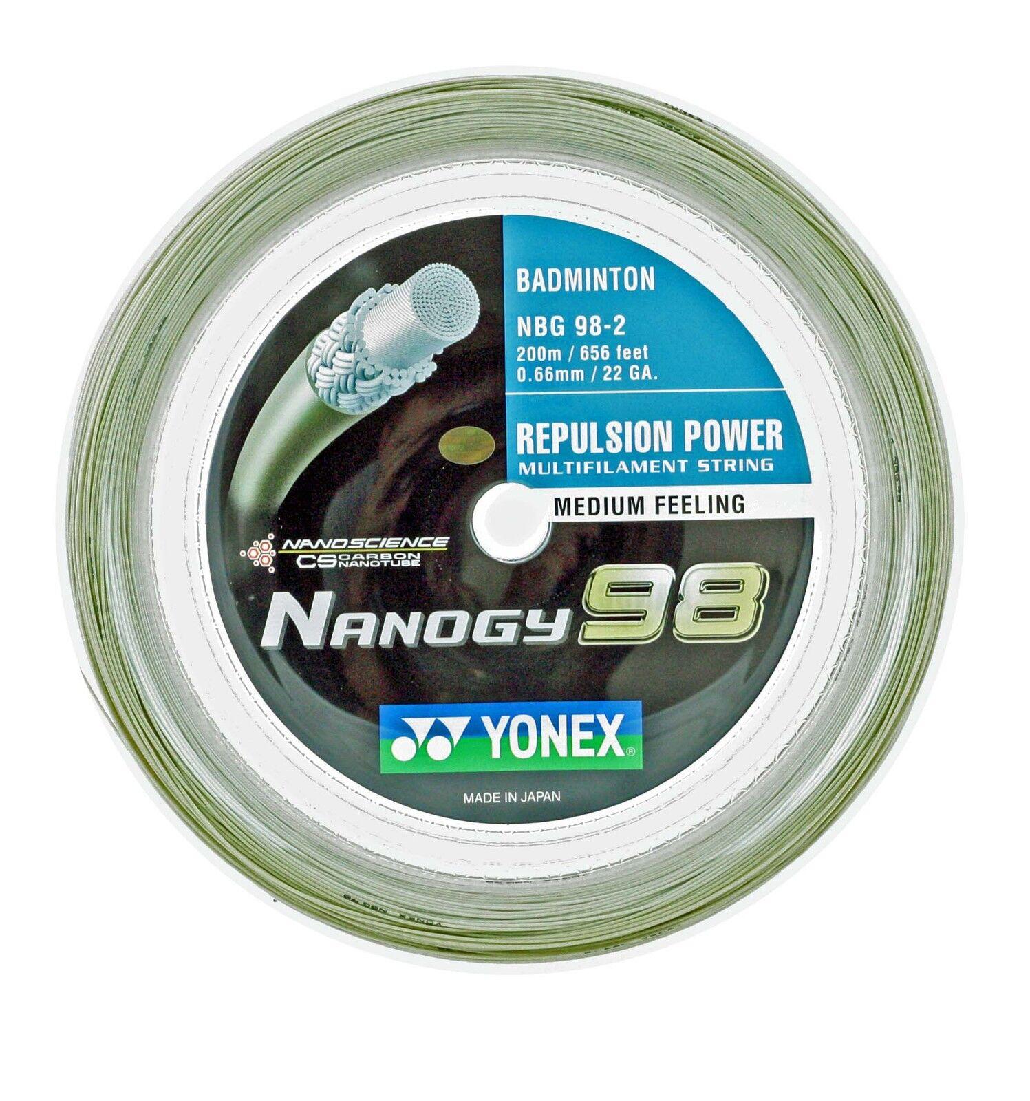 Genuine Yonex NBG98 Nanogy 98 98 Nanogy Badminton String - 200m Reel - Cosmic Gold 1696df