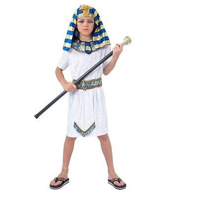 Niño Faraón Egipcio King Disfraz De Época Disfraz Fiesta De Niños Traje De Niño