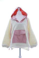 TS-44 Lammfell Schaf weiß Oversize-Look Kapuzen Sweatshirt Pullover Pastel Goth