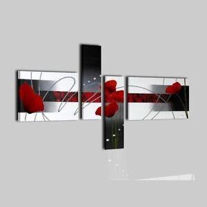 Quadri moderni componibili dipinti a mano su tela grigio for Quadri componibili moderni