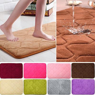 Absorbent Memory Foam Non-slip Bathroom Kitchen Floor Shower Mat Rug Plush