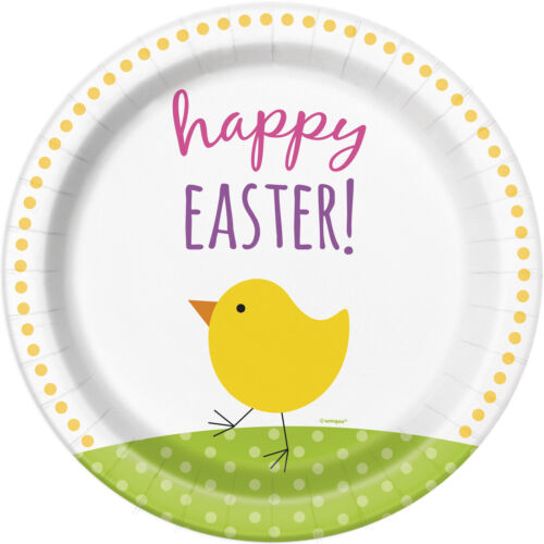 Easter Chick Paper Plates x 8