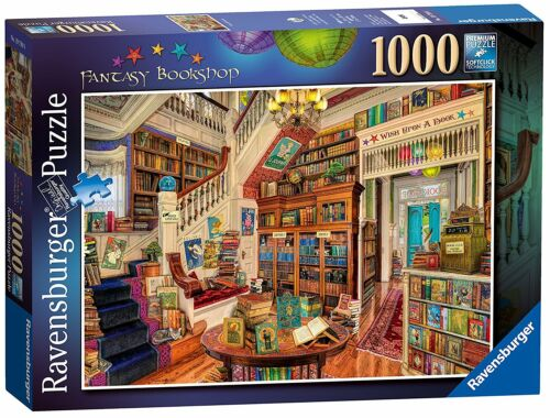 Jigsaw Puzzle FANTASY BOOKSHOP Vintage Edition 1000 piece Family Kids Game
