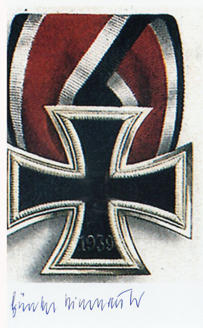 Luftwaffe Günther Bierbrauer WWII KG 27 German Knights Cross SIGNED 4x6  PHOTO