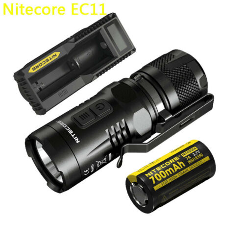 NITECORE EC11 900 Lumens Flashlight /&18350 rechargeable /&UM10 CHARGER