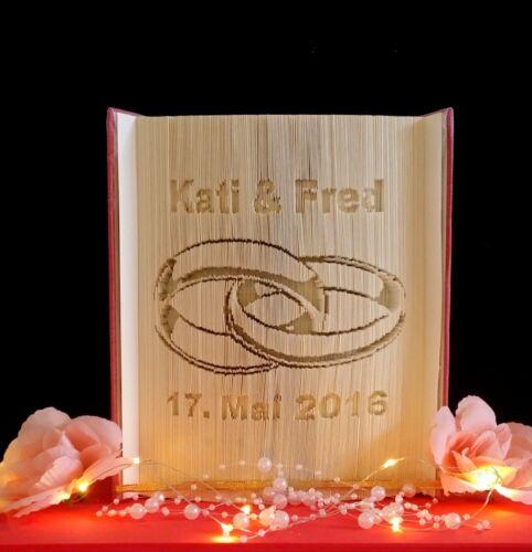 Liebe Heirat gefaltetes Buch,personalisiert Hochzeitsgeschenk,Ringe Wedding