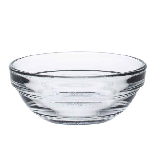 "3/"" Duralex Lys Glass Stacking Bowls Kitchen Serving Mixing 7.5cm x4"