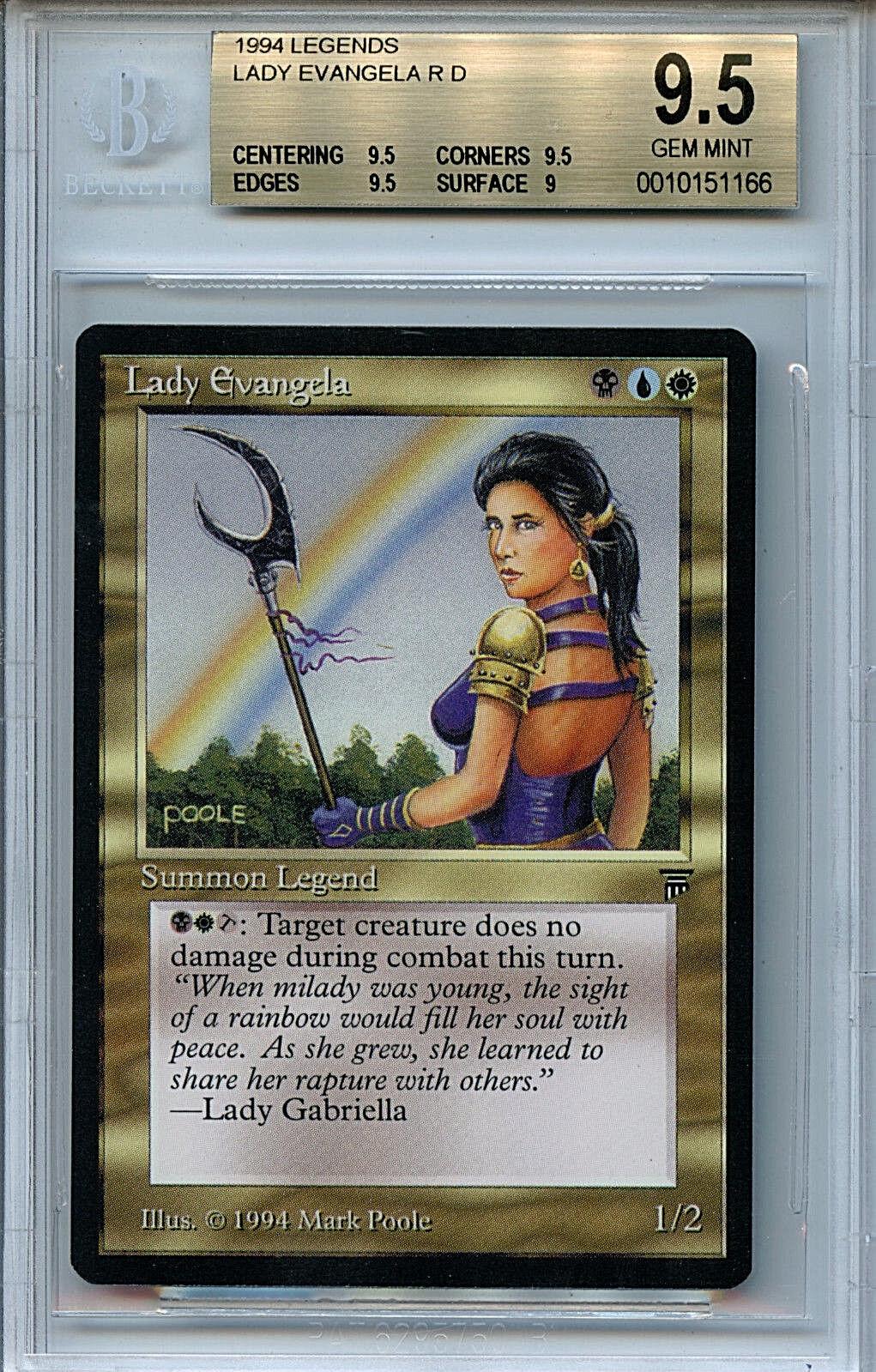 MTG Legends Lady Evangela BGS 9.5 9.5 9.5 Gem Mint card Magic the Gathering WOTC 1166 8780a1