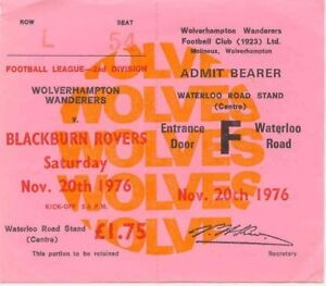 Ticket  Wolverhampton Wanderers v Blackburn Rovers 20111976 - York, United Kingdom - Ticket  Wolverhampton Wanderers v Blackburn Rovers 20111976 - York, United Kingdom
