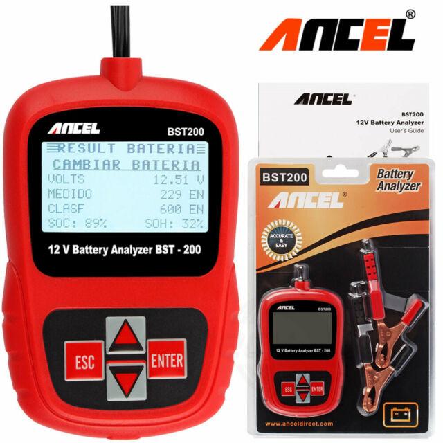 ANCEL BST200 Digital Battery Analyzer 12V 100-1100CCA Car Battery Load Tester