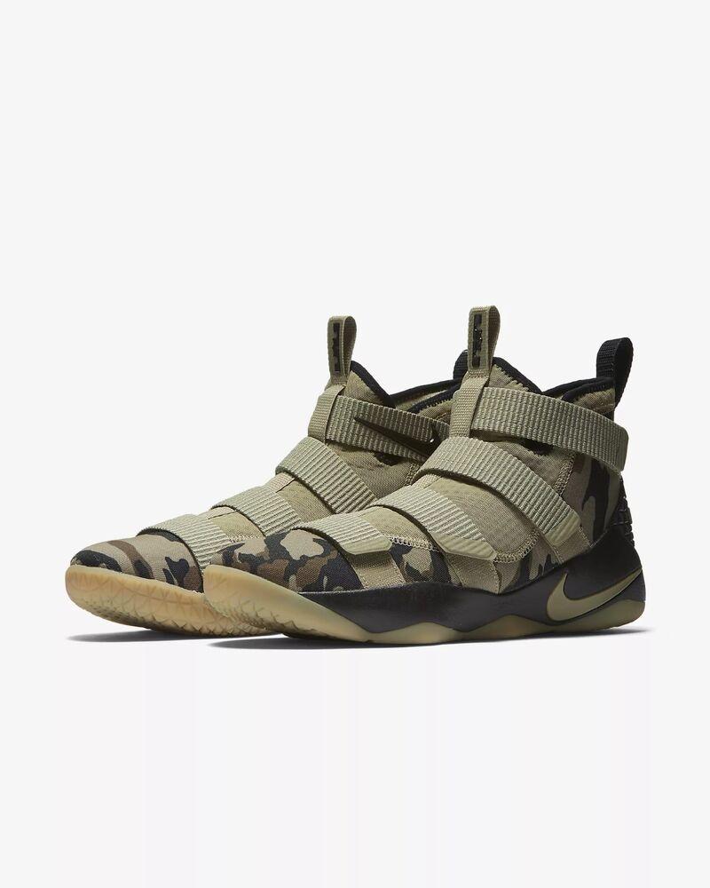 Men's Nike Lebron Soldier XI Basketball Chaussures Olive/Hazel-Sequoia 897644-200 NIB Chaussures de sport pour hommes et femmes