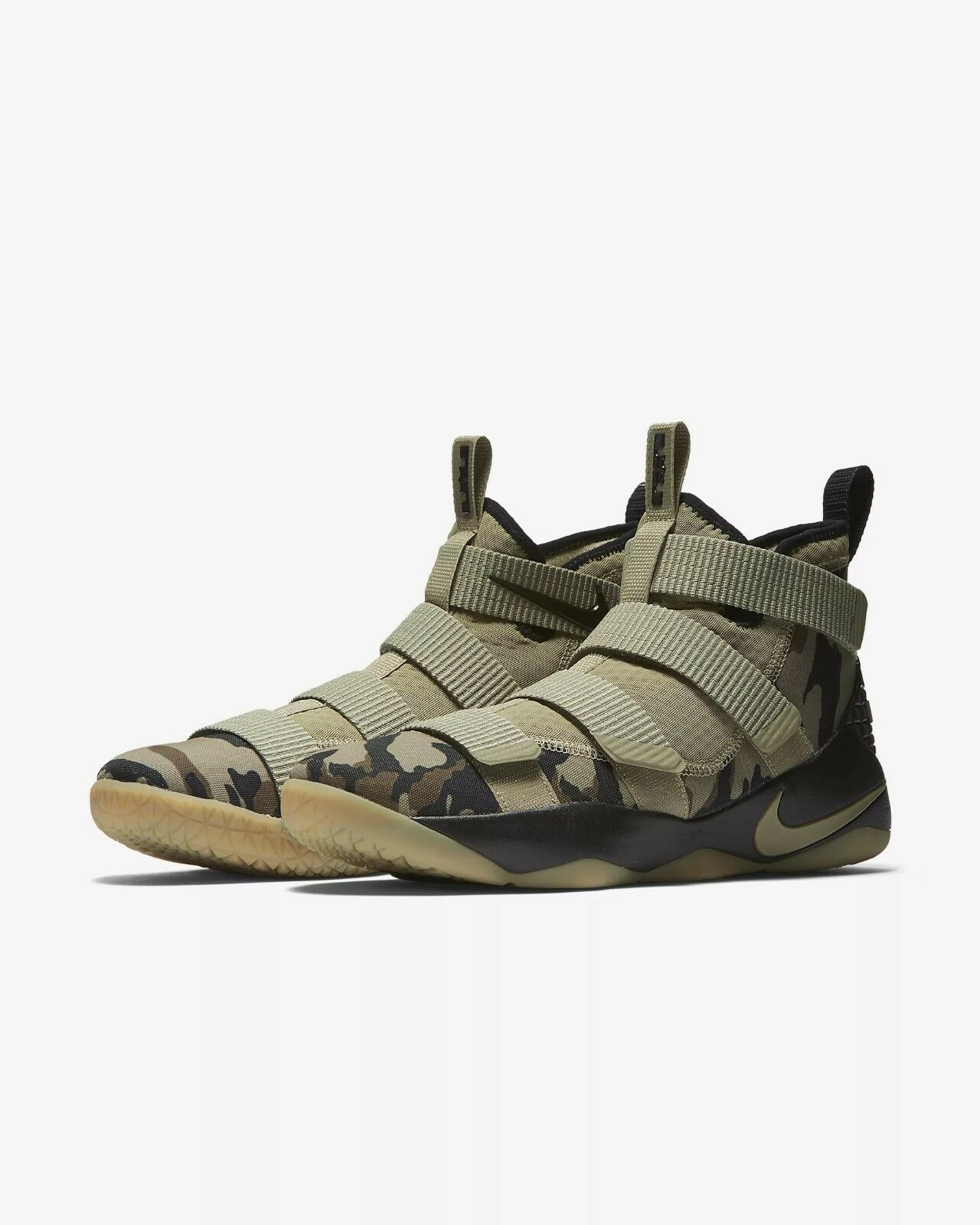Men's Nike Lebron Soldier XI Basketball shoes Olive Hazel-Sequoia 897644-200 NIB