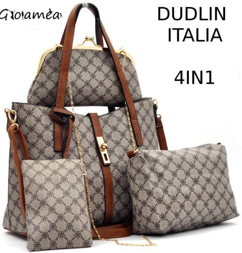 Fantasia Firmata Donna Borsa Originale Dudlin Particolare 4in1 Shopping Fiori FtqXXZKfcw