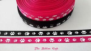Paws-Pawprints-grosgrain-ribbon-10mm-2-METRES