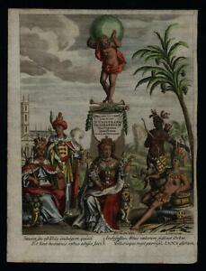 Allegorical-Continents-Frontispiece-Universal-Geography-1711-Cluverius-print