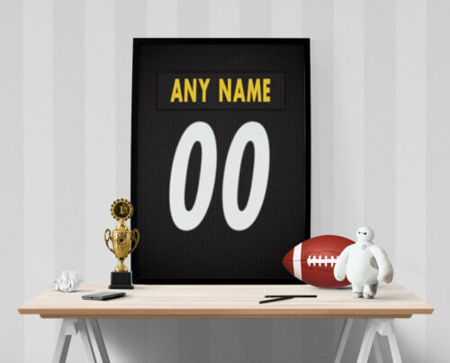 Personalized Name /& Number FREE US SHIPPING Pittsburgh Steelers Jersey Poster