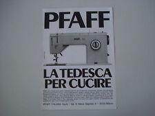 advertising Pubblicità 1971 MACCHINA PER CUCIRE PFAFF 1221