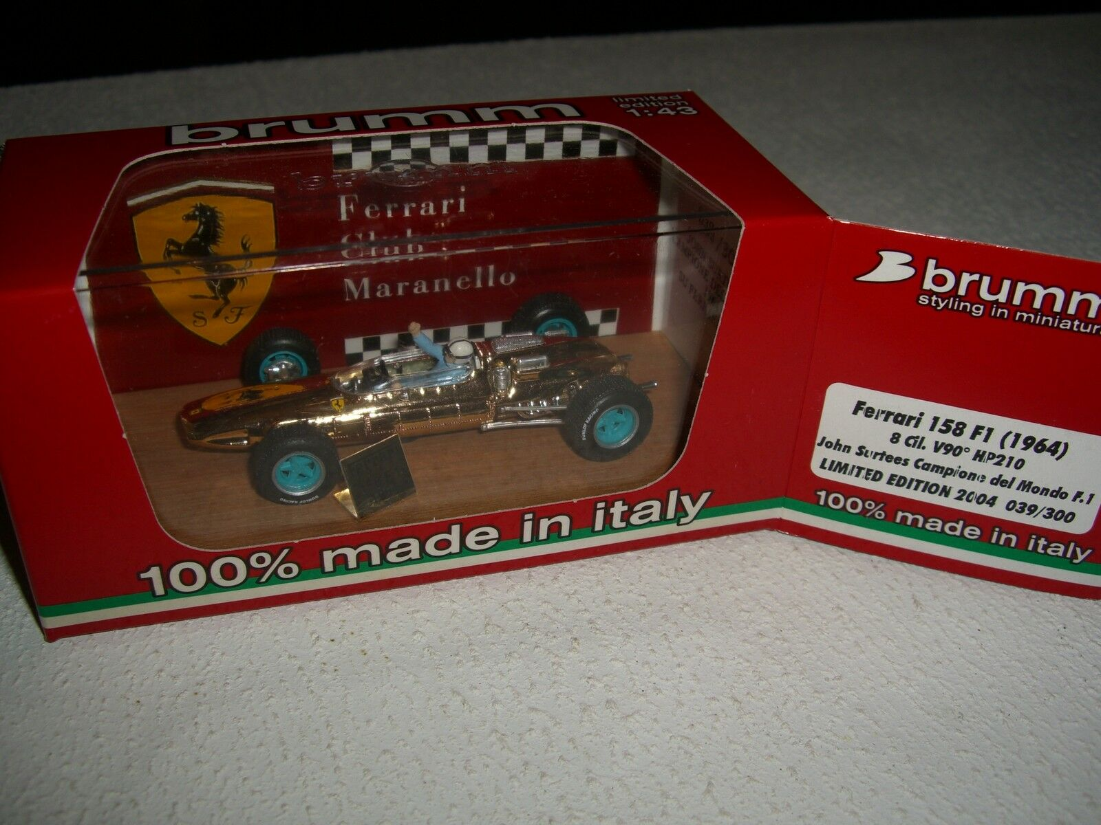 F1 Ferrari Club Maranello 158 f1 1964 J. Surtees L. Edition 300 pcs 1 43