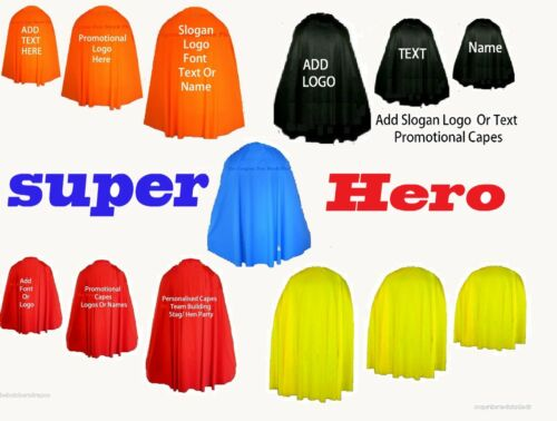 Super Hero Girl Boy Cape Customise Hen Party Personalised Fancy Dress Costume