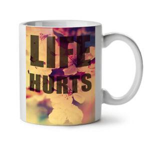 Life Hurts NEW White Tea Coffee Mug 11 oz | Wellcoda