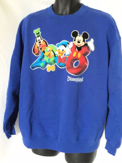 Disneyland Resort Mens  or Womans XL Blue Long Sleeve Sweat Shirt