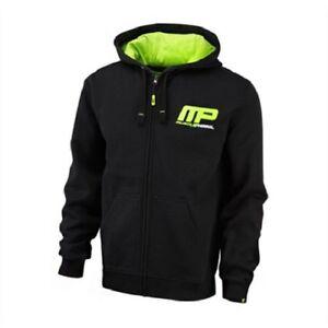 Impartial Musclepharm Sportswear Zip Through Hoodie Black Lime-green Riche En Splendeur PoéTique Et Picturale