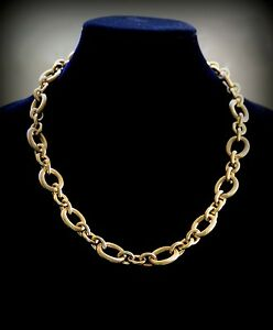 Elegant-18k-Gold-Plated-Chunky-Link-Chain-Heavy-Choker-Necklace-Unisex-Jewelry