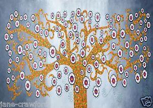 Satin-poster-Aboriginal-Kurrajong-Tree-Jane-Crawford-Print-Painting-for-frame