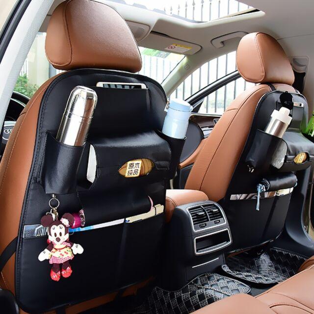 Car Seat Side Back Storage Organizer Mesh Multi Pocket Hanging Holder Bag B G9D9