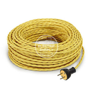 Fine Yellow Cordset Cloth Covered Twisted Rewire Set Antique Lamp Wiring Digital Resources Remcakbiperorg