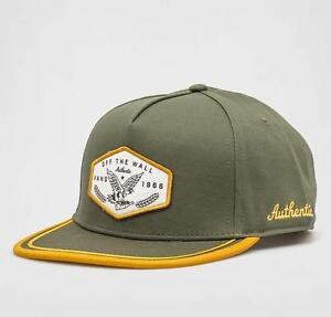 Vans Off The Wall Dalton Mens Green Gold Cotton Snapback Hat Cap New ... cf413be84413