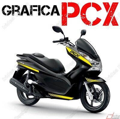 PROFILI ADESIVI SPORT CERCHIO RUOTA GRAFICA PER HONDA PCX 125 150 BIANCO