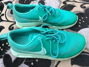 Details about Ladies , Womens Nike Air Max Thea Trainers Green Size UK 4