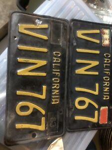 1963-california-license-plates-Black-And-gold-VIN-767