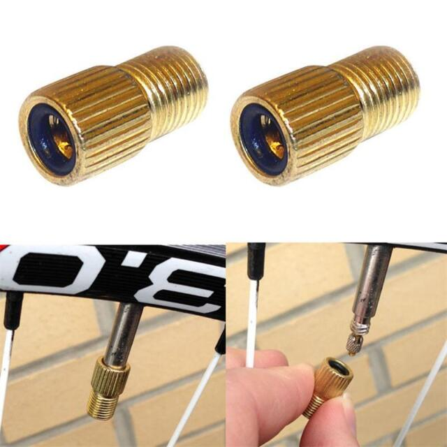 2PCS NEW Bicycle Presta to Schrader Valve Adapter Converter Road Bike Pump Tube