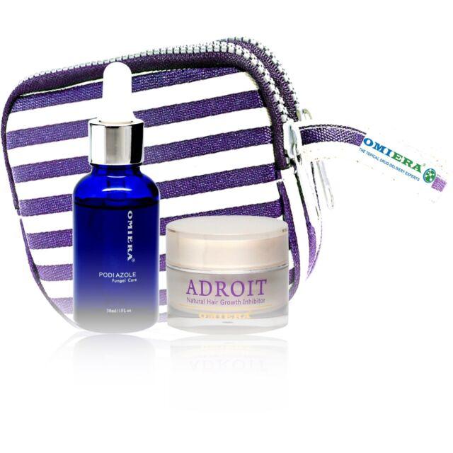 Podiazole Toenail Fungus Treatment + Adroit Hair Growth Inhibitor