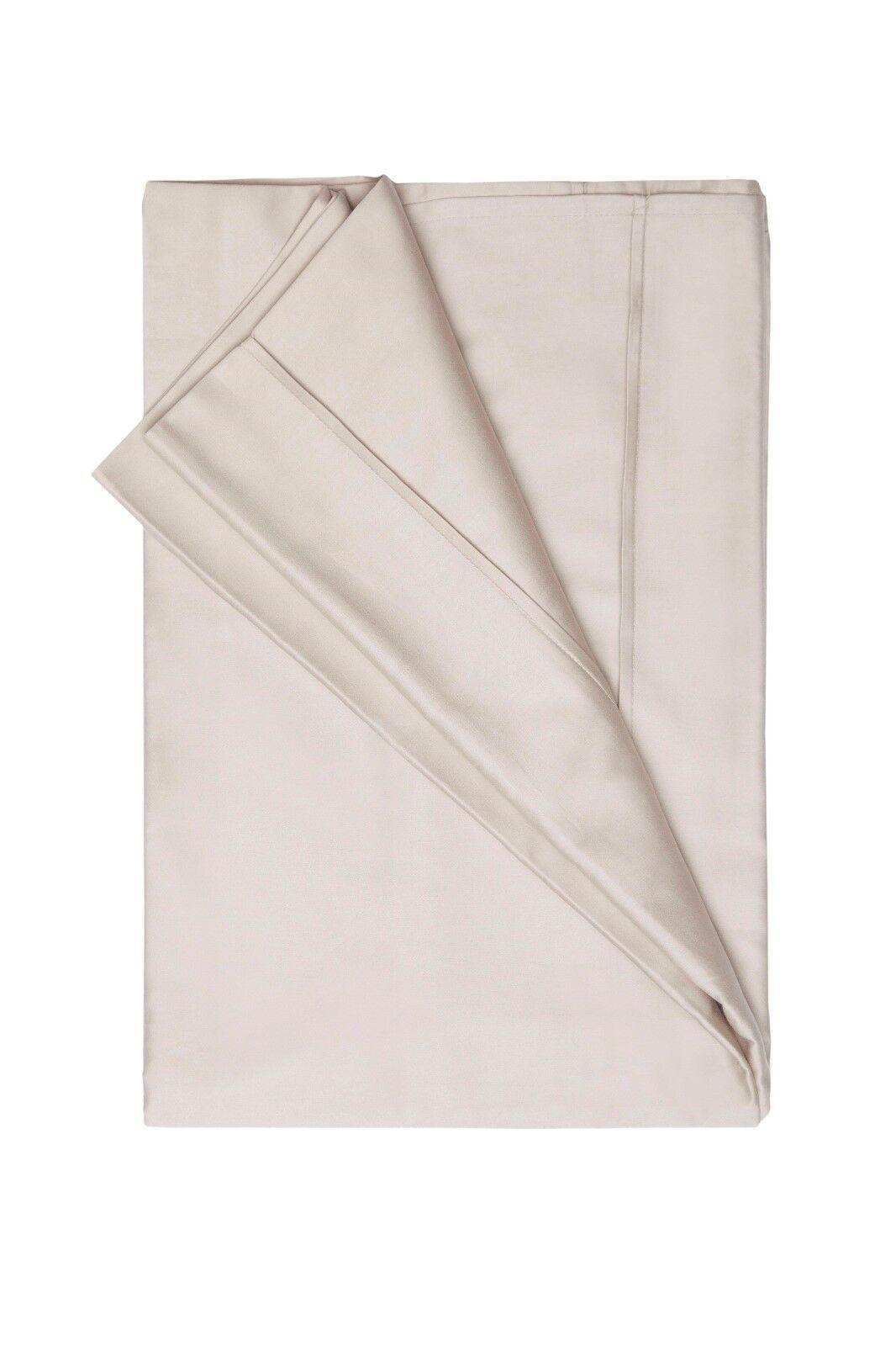 450Thread Count Pima Cotton Flat Sheet in Oyster 180cm x 260cm Single Bed Größe