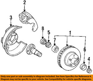details about ford oem 95 96 f 150 brake front bearing seal f5tz1s190aa  f150 bearing diagram #12