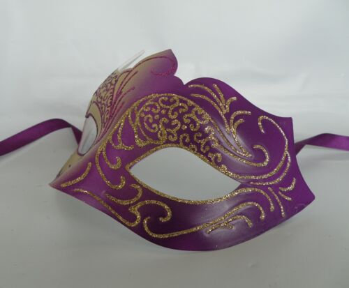 Purple /& Gold Venetian Masquerade Party Mask *NEW* Express Post Option