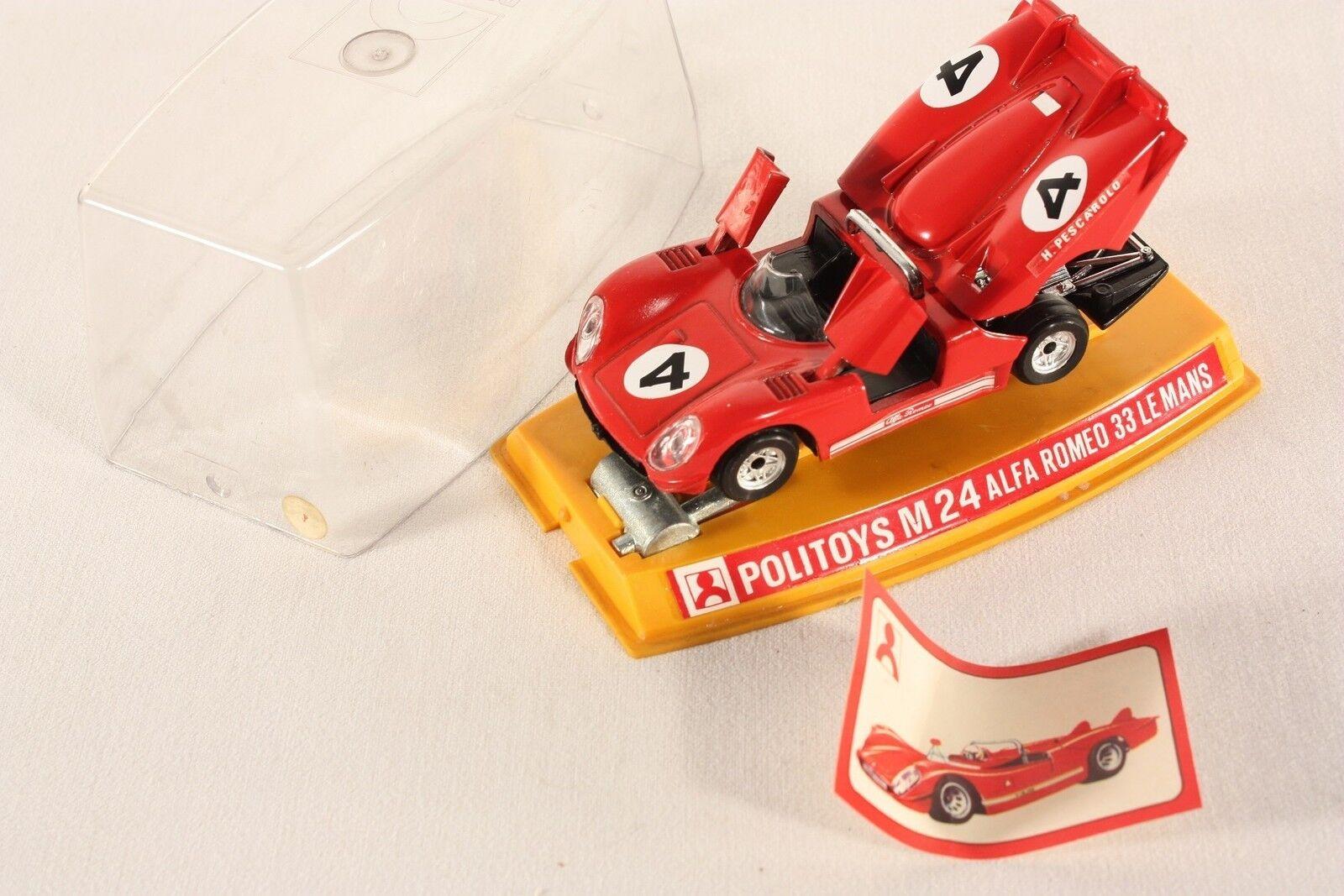 Politoys M 24, Alfa Romeo 33 Le Mans, Mint in Box      ab710