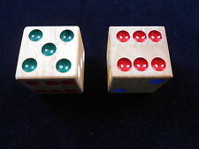 """Handcrafted Big wood Dice 1.5"""" cube"""