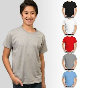 Premium Kids Unisex Plain 100% Cotton T-shirt Blank Premium Youth | Size 16