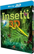 Insetti 3D Blu Ray Documentario Natura Farfalle Mosche Locuste 1080p Full HD